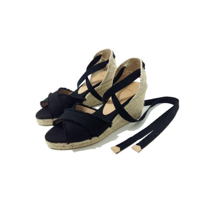 Espadrilles Mode Femme Été Compensées Noir CastanerLe133cannes mn0vN8w