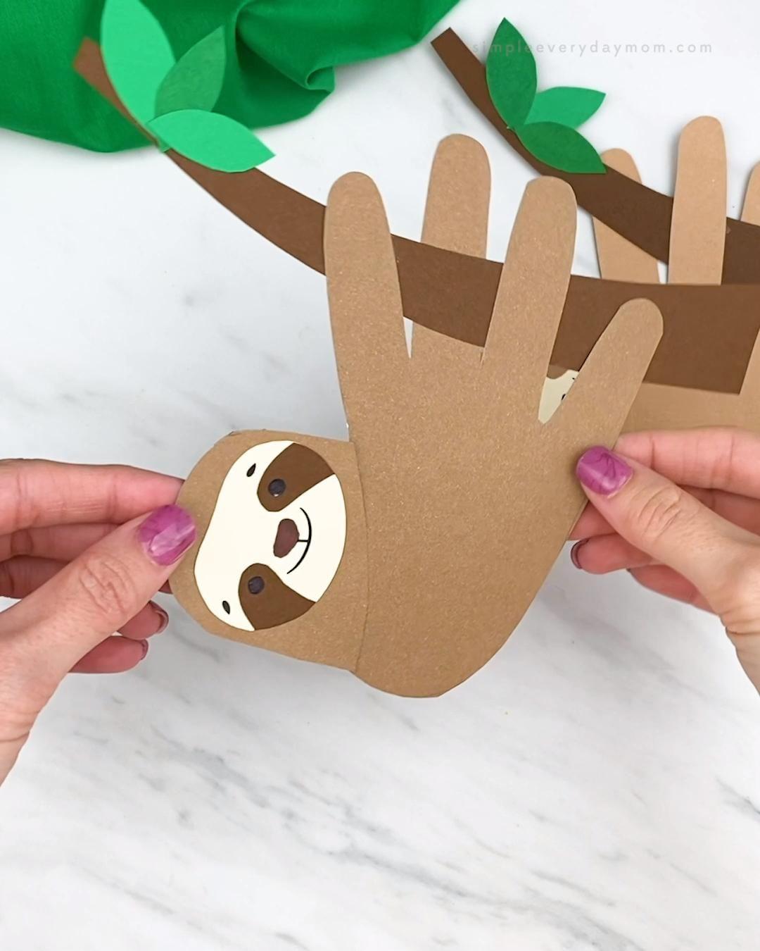 Sloth Handprint Craft