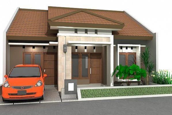 ukuran kecil satu lantai rumah minimalis fasad desain