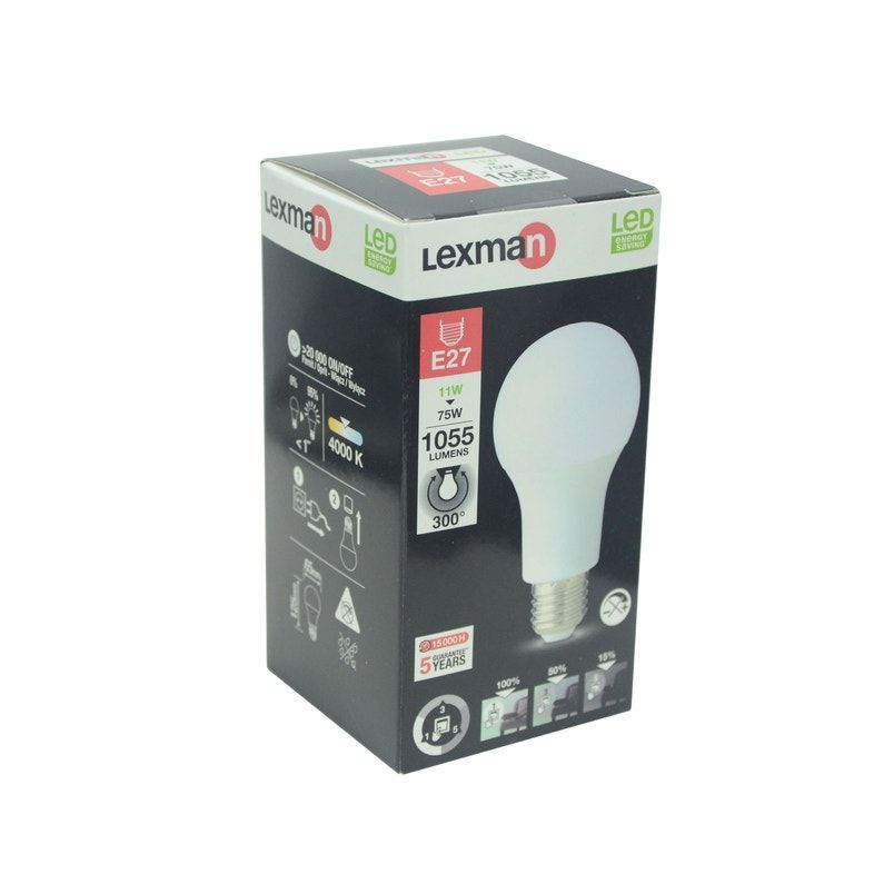 Ampoule Led à Ballast Intégré Standard E27 D65mm 11w 4000k