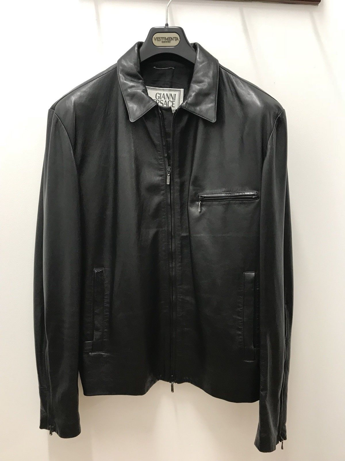 600.00 Gianni Versace Mint Condition Leather Jacket