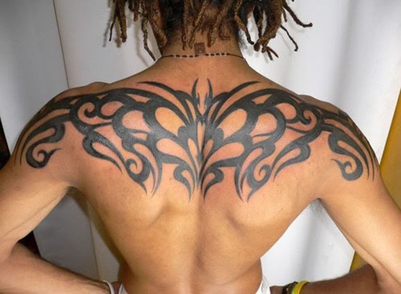 Awesome Upper Back Tribal Tattoos For Men Tattoos For Men Upper