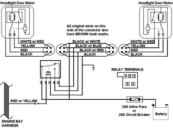 67 camaro headlight wiring harness schematic this is the 1967 rh pinterest com