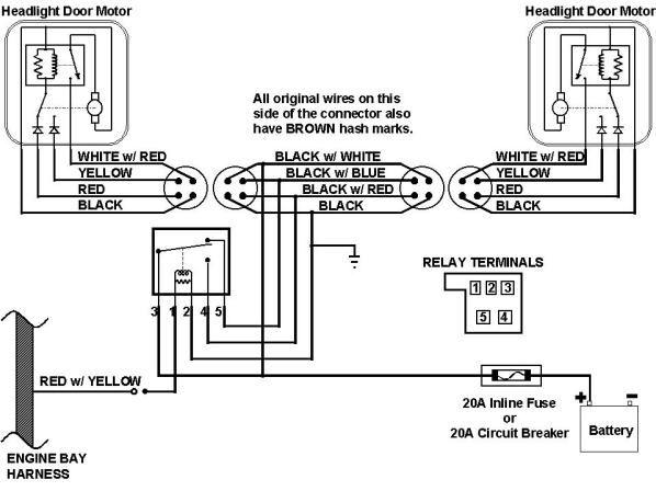 68 camaro front light wiring diagram schematic