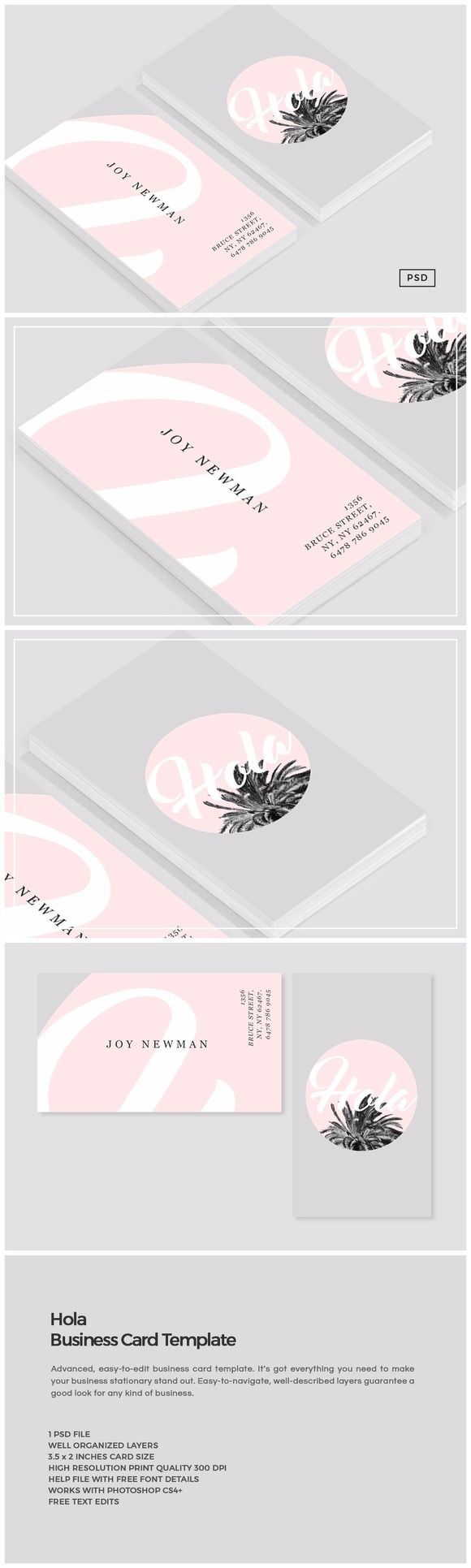 Hola business card template creativemarket design art hola business card template by the design label on business card construction free printable reheart Gallery