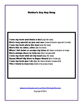 Mother S Day Rap Song Rap Songs Mothers Day Songs Songs