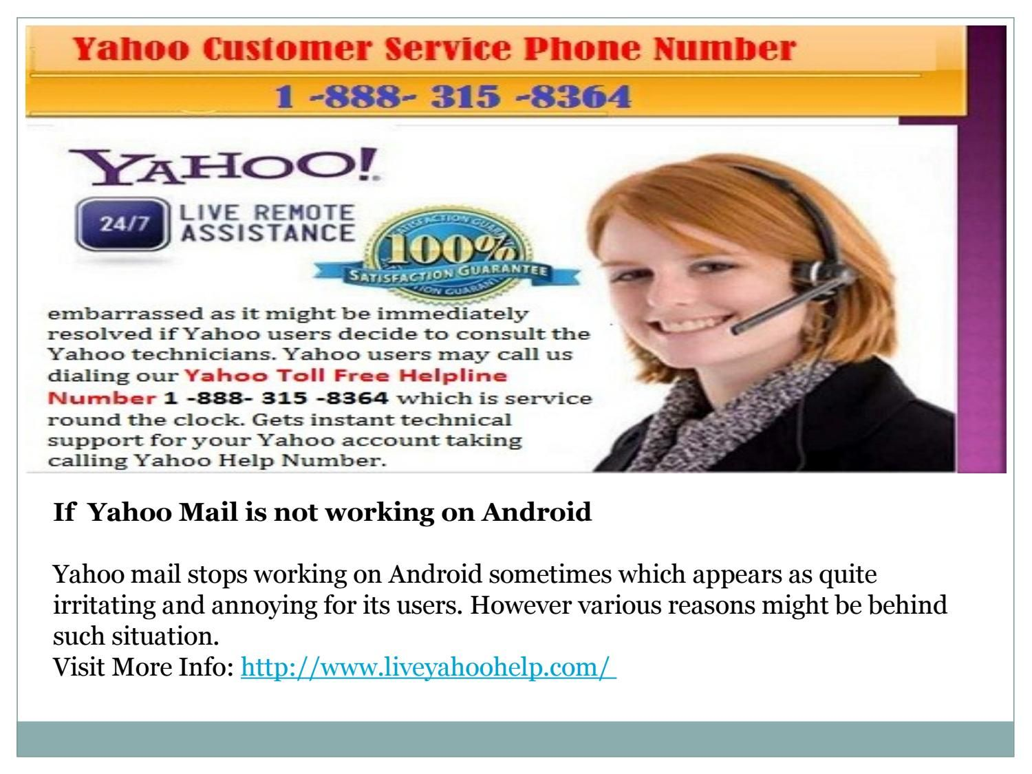 Yahoo Contact Service Number 1 888 315 8364 Service