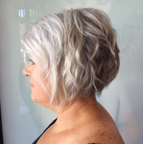 65 Gorgeous Gray Hair Styles Short Textured Silver