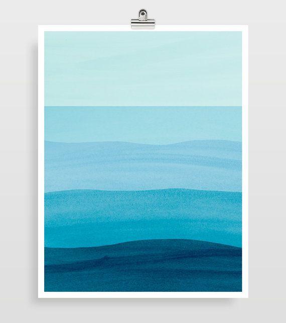Minimalist Bathroom Tutorial: Abstract Watercolor Painting, Beach Decor For Bedroom