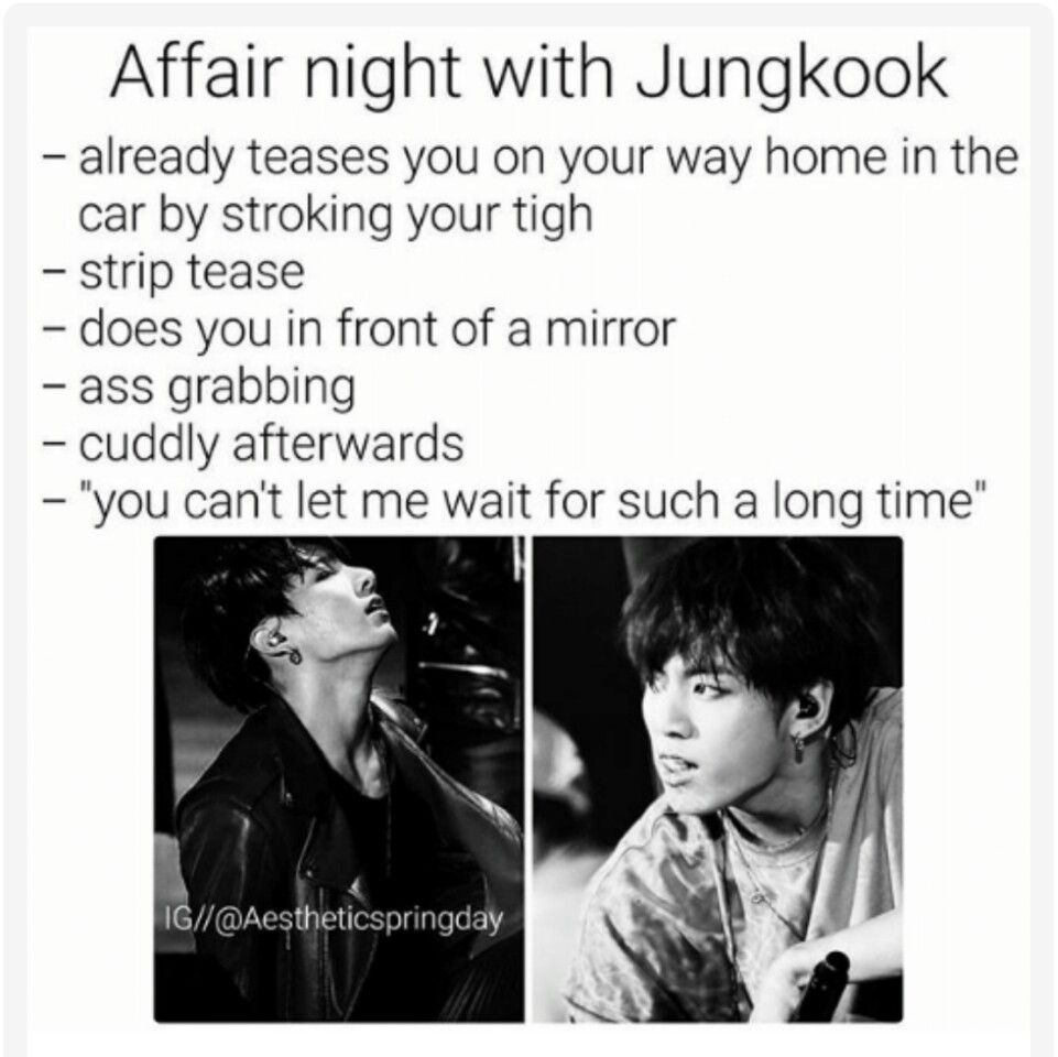 BTS Jeon Jungkook Imagine Affair night 18+ 😶 dear Lord I