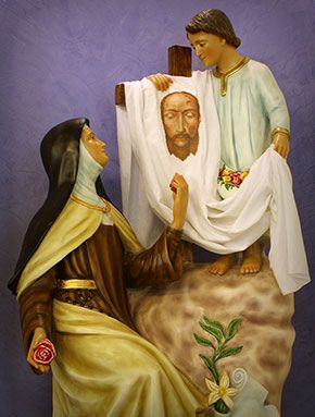 St. Therese with the Child Jesus and an image of the Holy Face