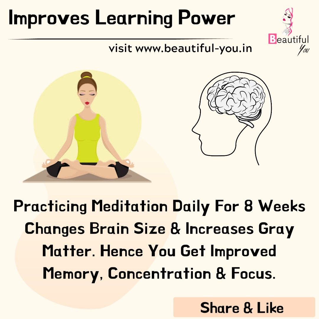 Meditation Improves Learning Power In
