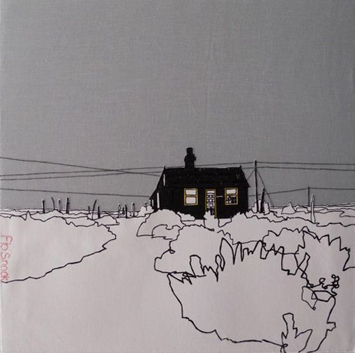 70d462538 beautiful silk screen and embroidery work by flo snook: derek jarman's  house, dungeness