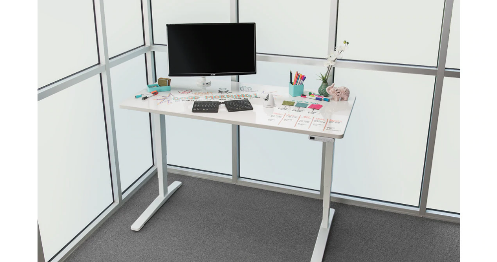 60 X 30 Uplift V2 Whiteboard Standing Desk On A White Uplift V2