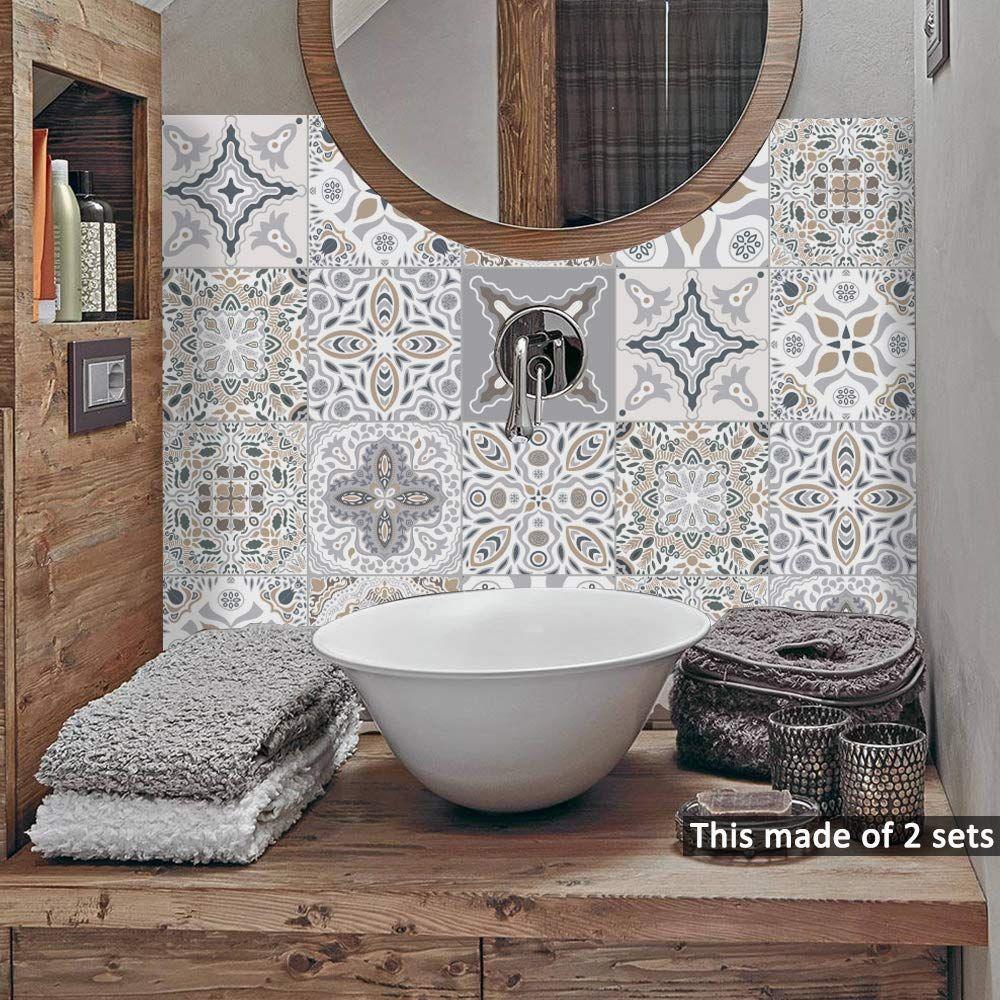 Amazon Com Alwayspon Waterproof Vinyl Wall Tiles Sticker For Home
