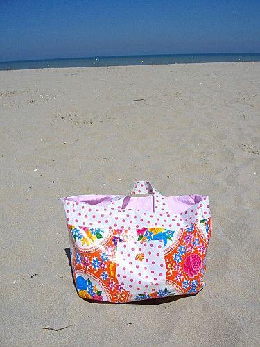diy un sac de plage la fabrique de mademoiselle p querette couture sacs pochettes. Black Bedroom Furniture Sets. Home Design Ideas