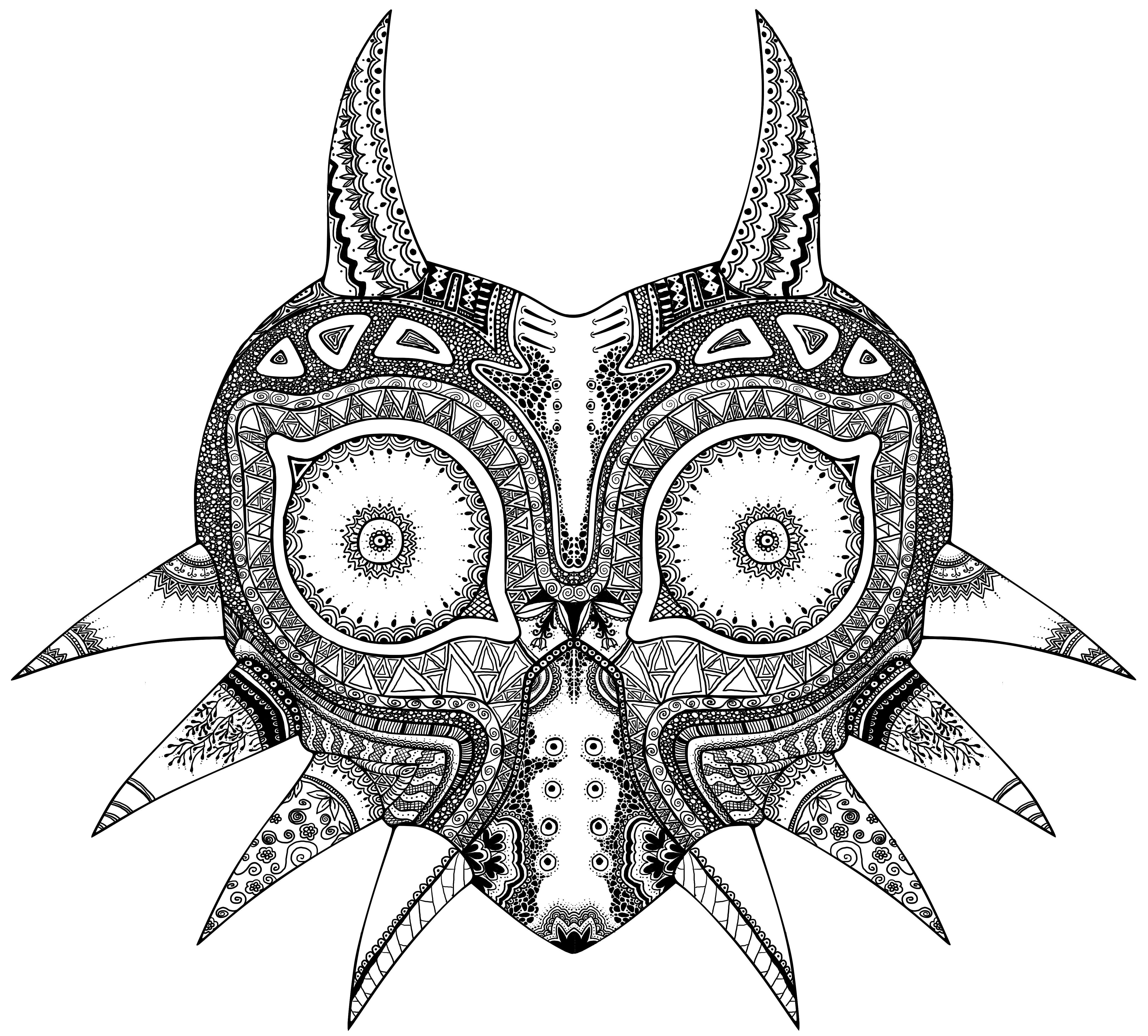Manderlaydreams Zentangle Majora S Mask Legend Of Zelda Majoras Mask Zelda Tattoo Majoras