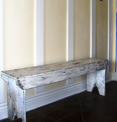 Distressed Bench Plans From Start Finish Distressed Bench Bench Plans Diy Bench