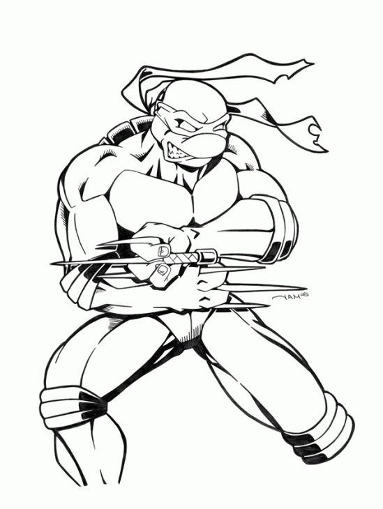 tmnt coloring pages on pinterest - photo#16
