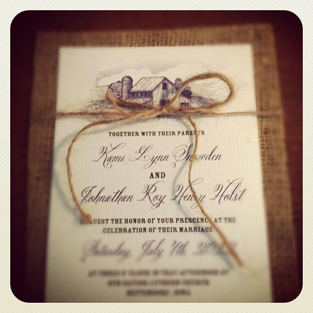 1000 images about Wedding invitations – Rustic Wedding Invitations Burlap