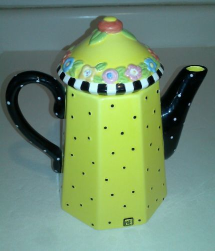 mary engelbreit teapots   Mary Engelbreit's Teapot 'Friendship Garden' Limited Edition 376 of 9 ...