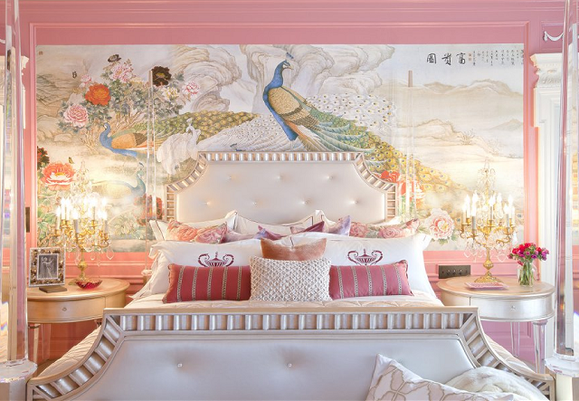 Chinoiserie mural wallpaper stencils pinterest for Anthropologie wallpaper mural