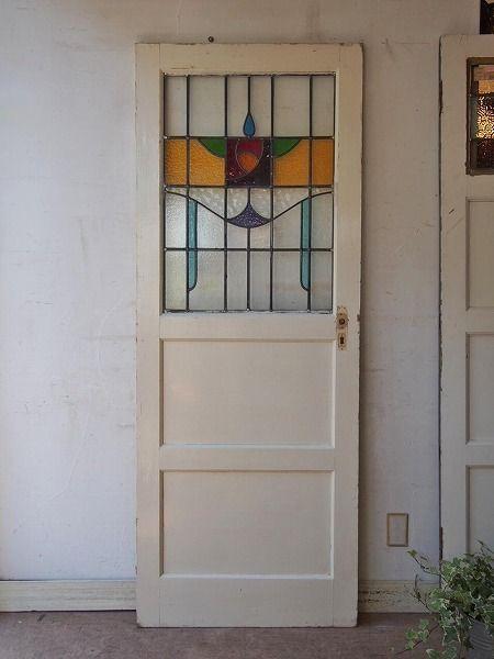 ステンドグラスドア3アンティーク Garden House ドア 家具