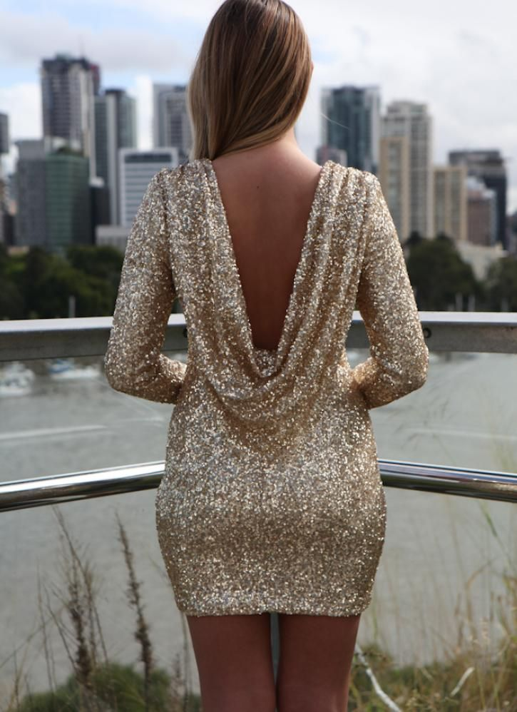dd6efca14555 Gold Sequin Dress for Christmas disco party... one of the ideas i like