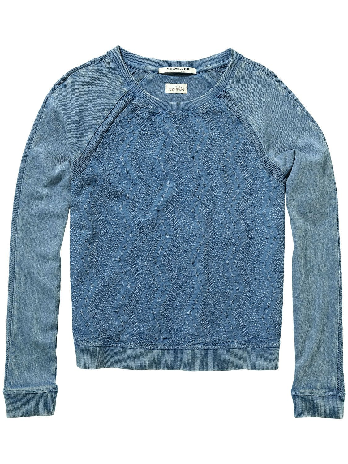 Embroidered Sweater |sweat|Woman Clothing at Scotch & Soda