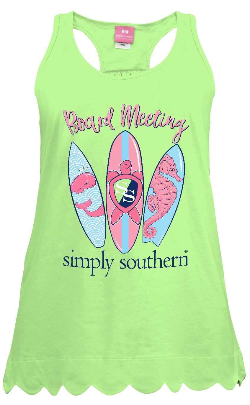601cf51f6e5094 Simply Southern Preppy Collection Board Meeting Tank Top for Women in  Limeaide TANK-BOARD-LIMEAIDE