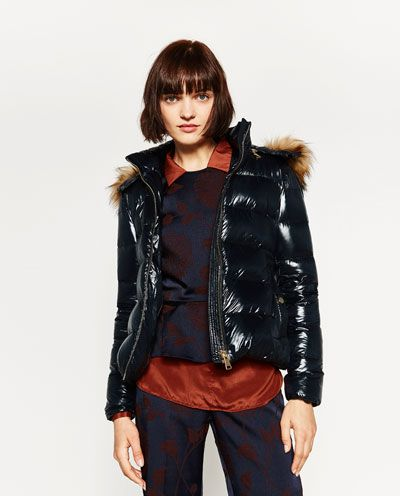 SHORT SHINY QUILTED FEATHER DOWN COAT-NEW YEAR COLLECTION | ZARA ...