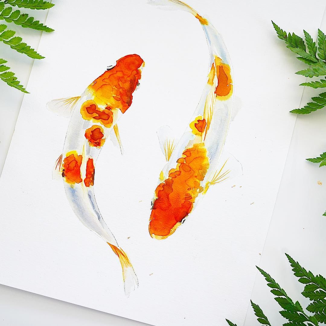 Koi Fish For Letsgomakeart Watercolor Letsmakeart Koi