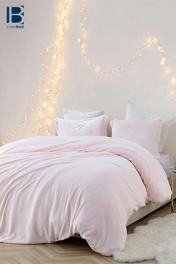 Light Pink King Comforter Ultra Cozy And Super Soft Oversized King Bedding Essential Pink Comforter Light Pink Comforter Pink Duvet Cover