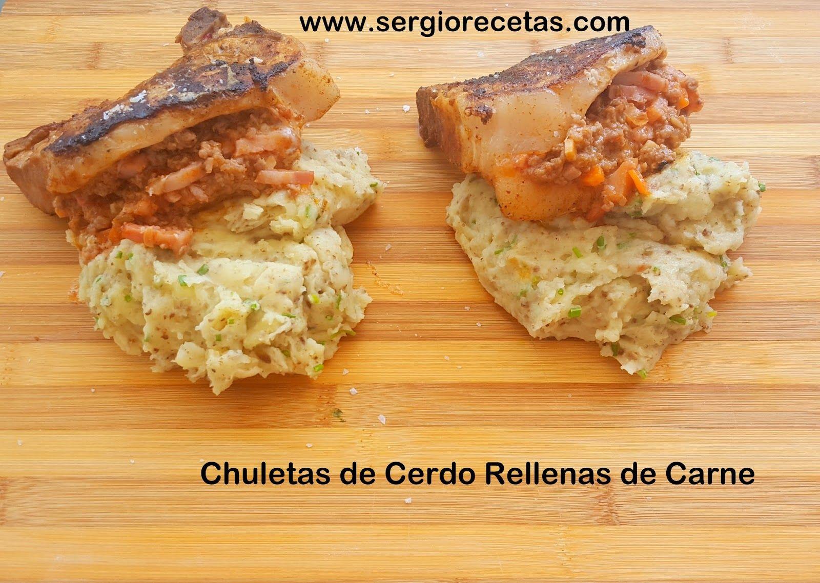 Cocinar Carnes   Sergio Benito Recetas Chuletas De Cerdo Rellenas De Carne Ideas