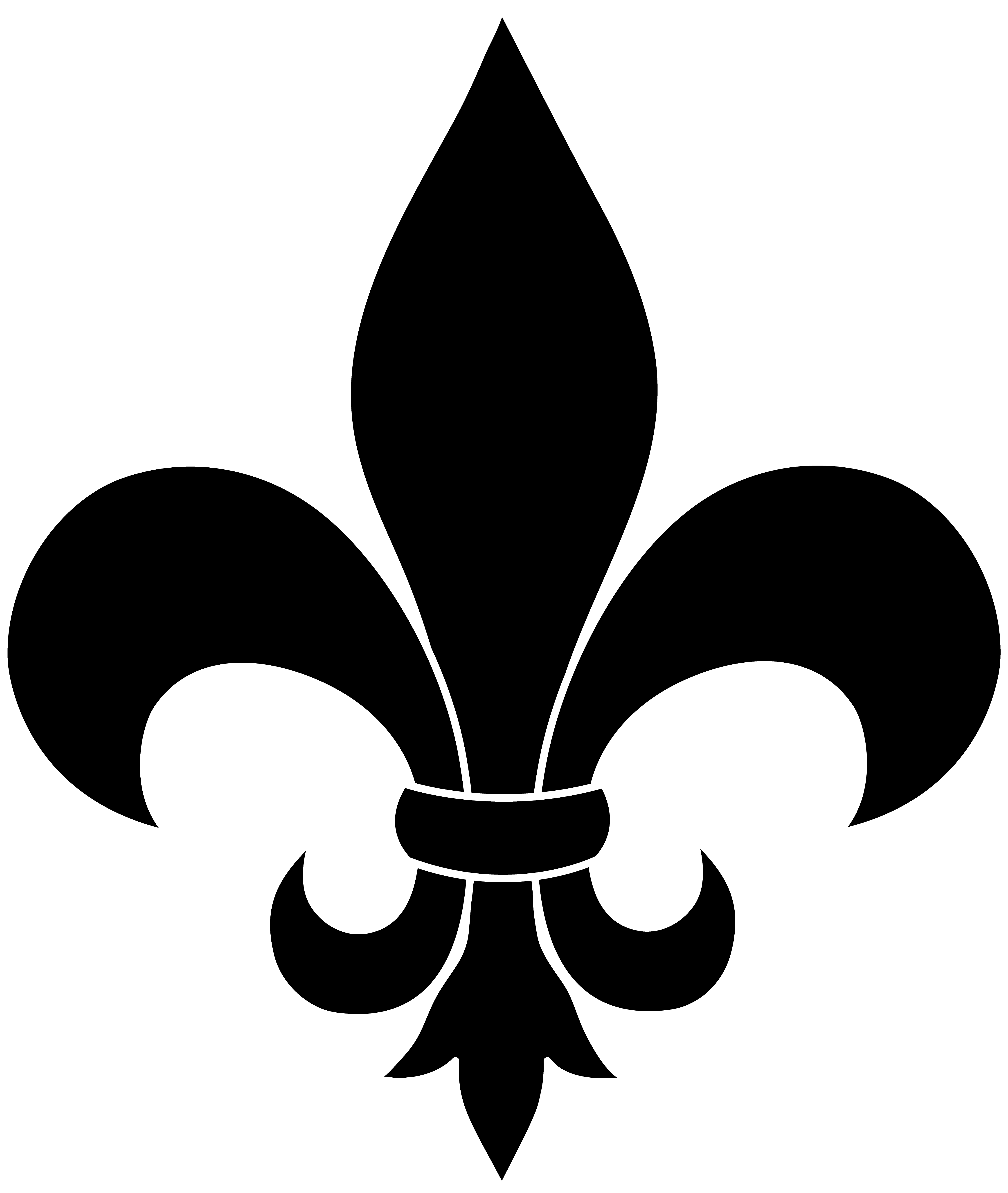 frrench free clip art black fleur de lis silhouette for flyer [ 4480 x 5304 Pixel ]