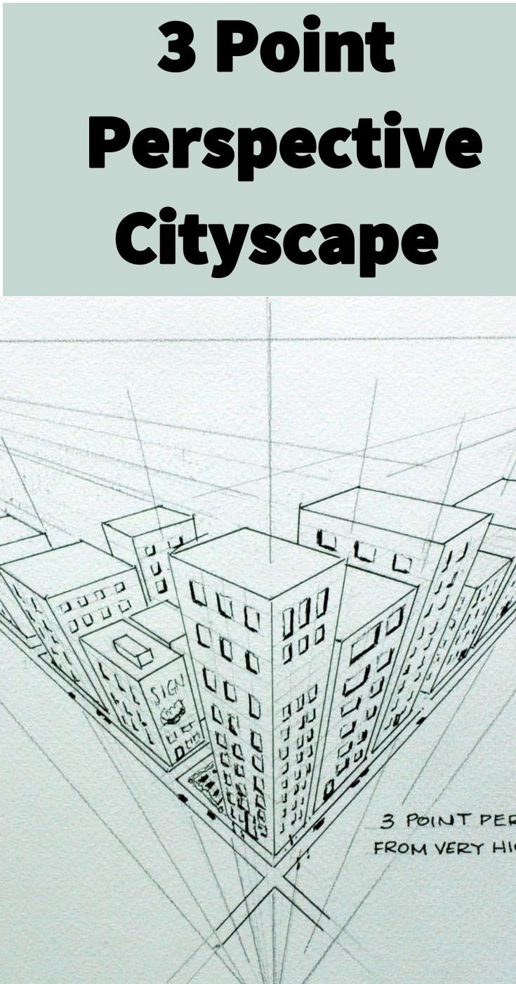 Dessin Ville 3d Practical Demo On How To Draw A City Scape In 3 Point Perspective