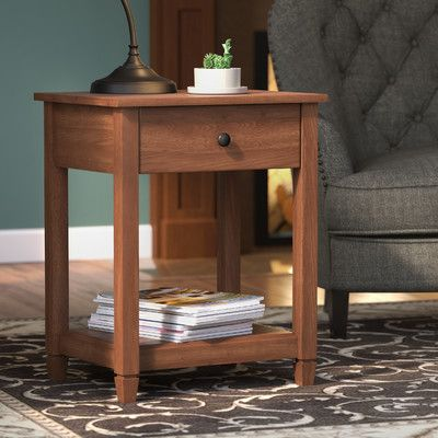 Three Posts Lamantia End Table With Storage End Tables With