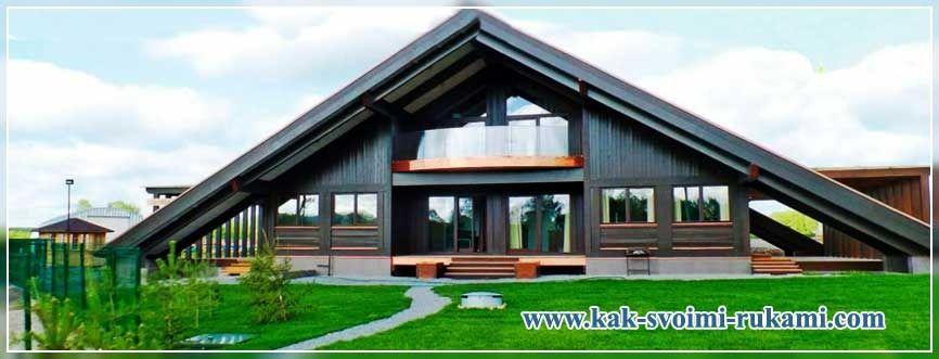Строительство треугольного дома – фото и проект | Дом ...