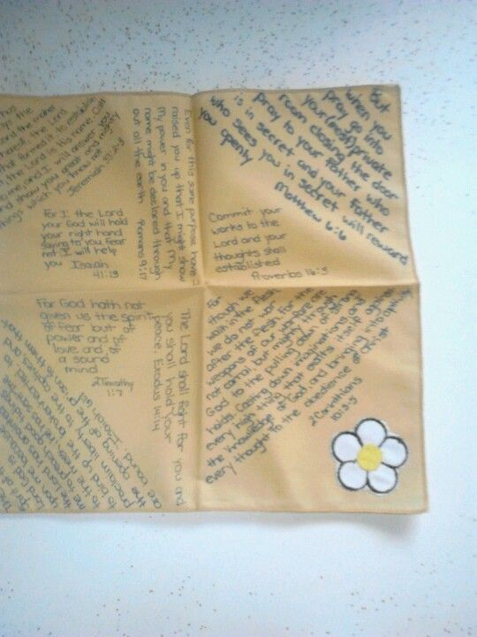 Prayer cloth with some of my favorite scripture  | Scripture Stuffs