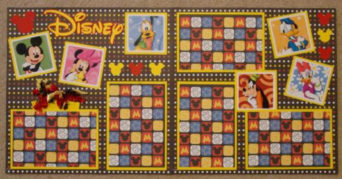 Cute Disney double page layout.