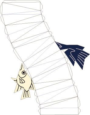 鳥と魚の空間充填形
