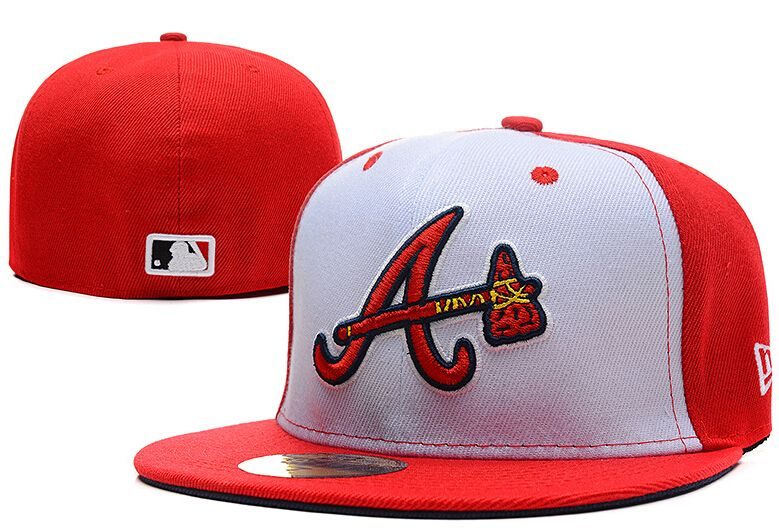 Atlanta Braves Medium Raised Embroidery Letter Fitted Hat Structured Fit Classic On Field High Crown Baseball Cap Onl Braves Hat Atlanta Braves Hat Fitted Hats