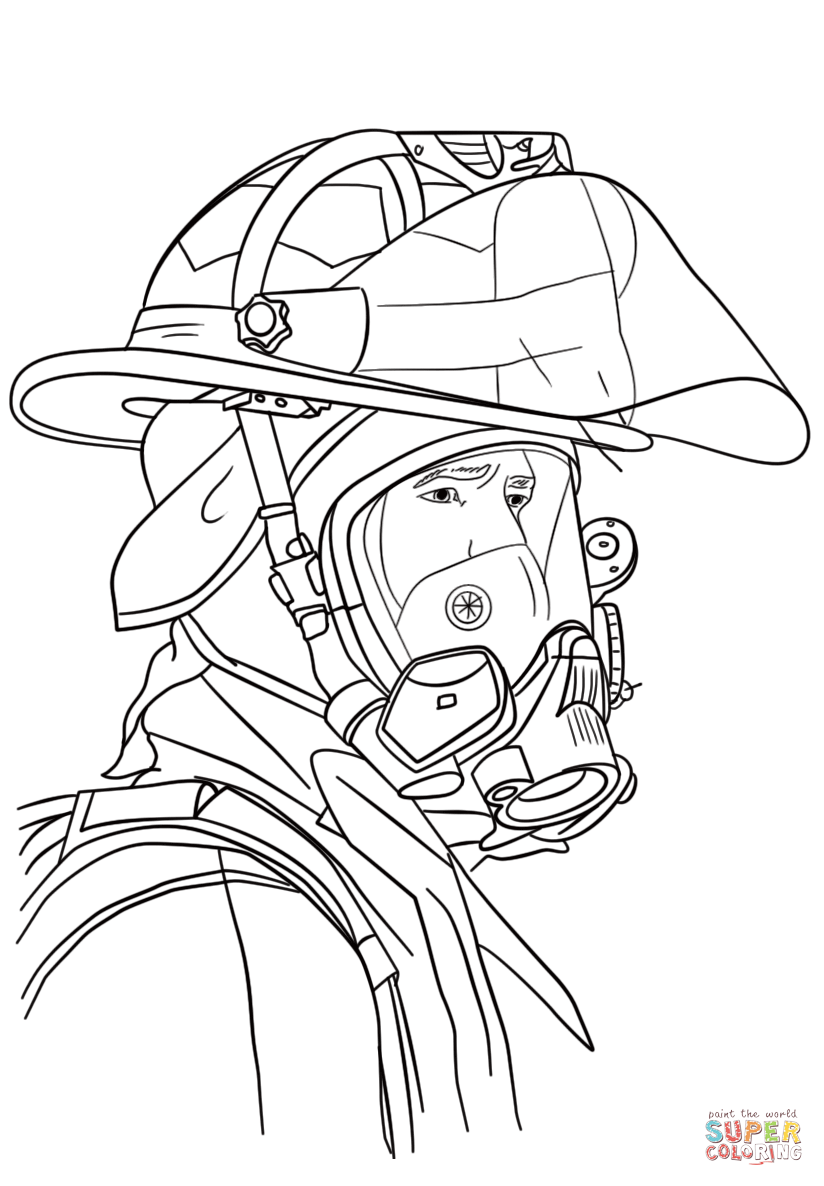 Coloring Pages Fireman coloring pages free printables