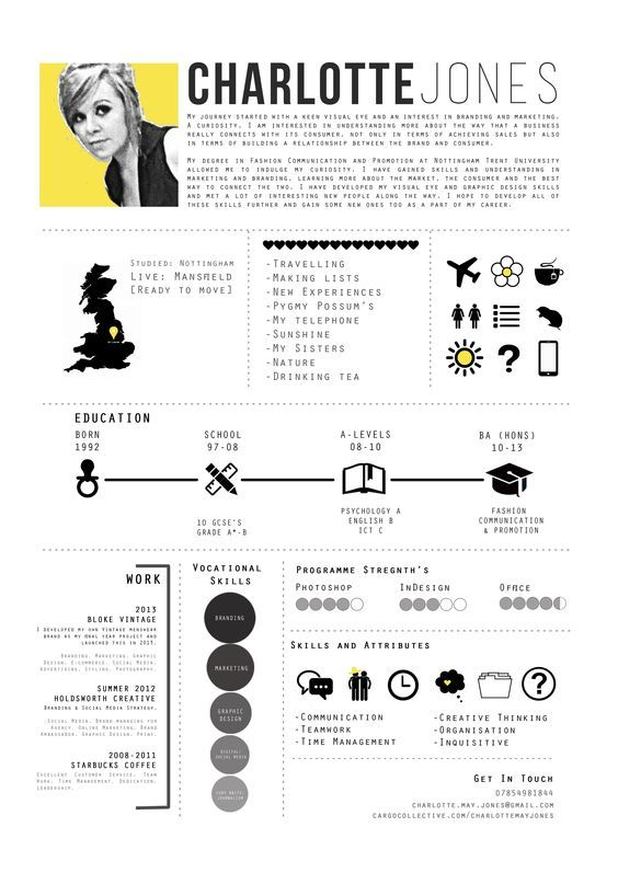 40 Creative CV Resume Designs Inspiration 2014 Pinterest