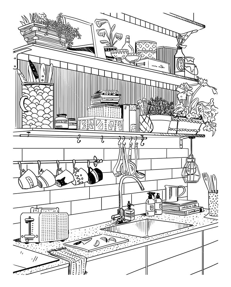 Amber Day Commercial Illustrator Cute Coloring Pages House Colouring Pages Amber Day