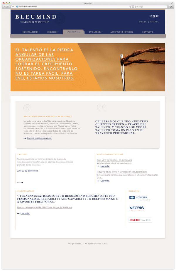 Bleumind By Face Via Behance Web Design Face Behance