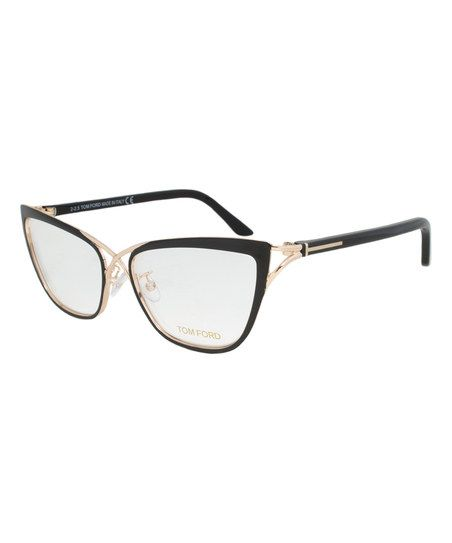 87b230f2523e Tom Ford Black   Gold Cat-Eye Eyeglasses
