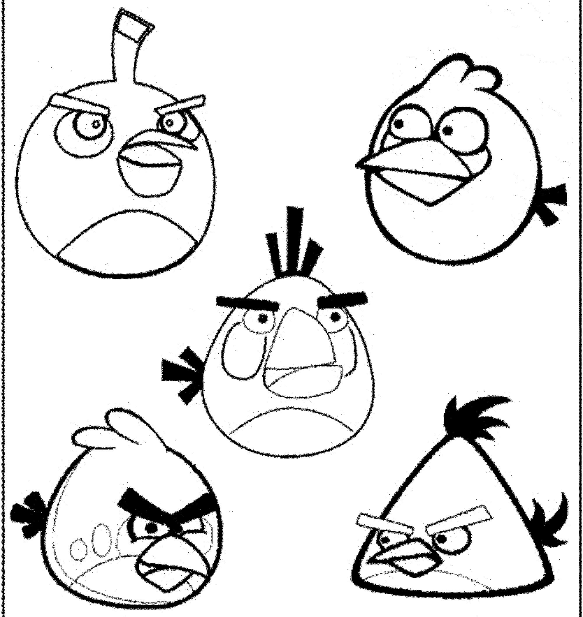 Angry Birds Color Pages