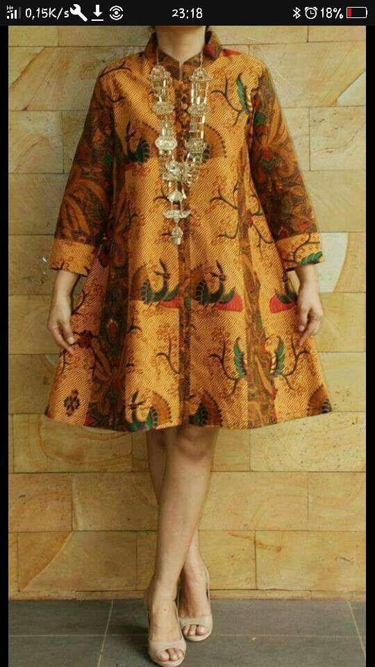 Model Baju Batik Pinterest