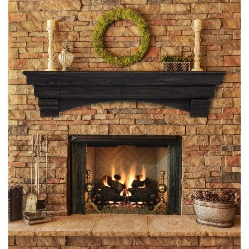 Pearl Mantels Celeste Fireplace Mantel Shelf Fireplace Shelves Mantel Shelf Transitional Fireplace Mantels